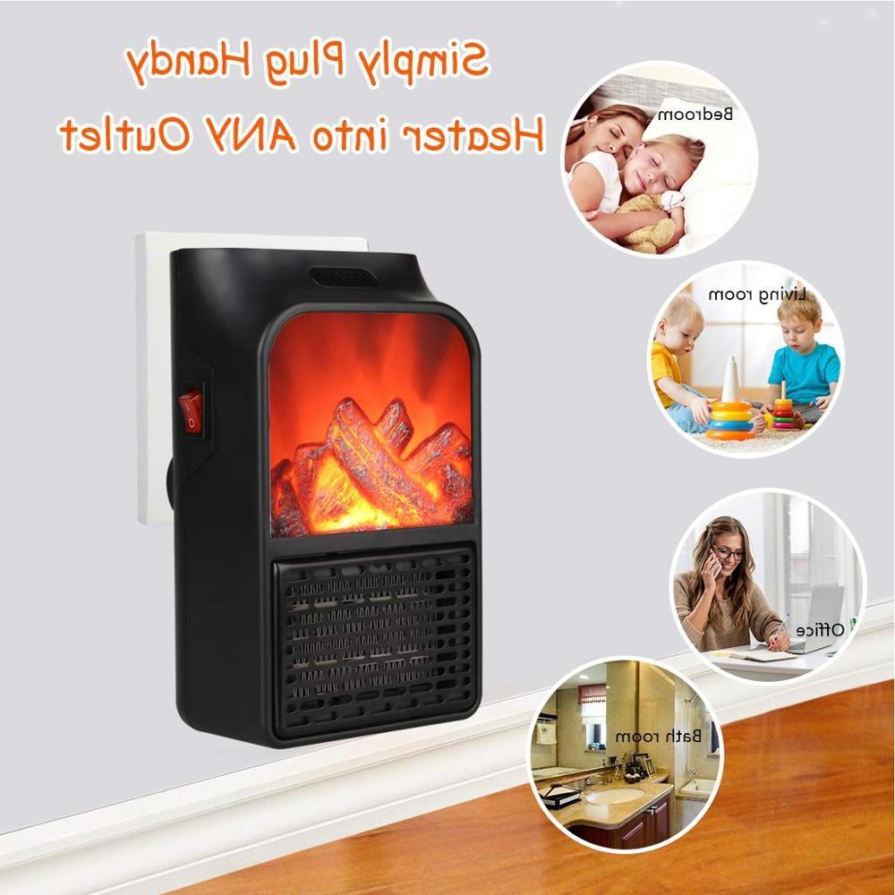 Small Air Space Heater <font><b>Thermostat</b></font> Timer <font><b>Remote</b></font> , Portable <font><b>Fireplace</b></font> Bedroom Office <font><b>Home</b></font>