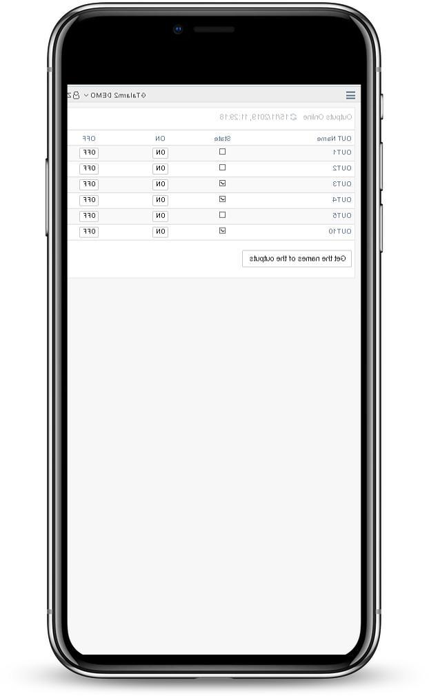 Smart home monitoring 32 Mobile web