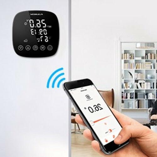 Smart WiFi Thermostat Humidity for Alexa Google