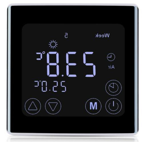 FLOUREON Home Wifi Control Touch Screen Thermostat NTC