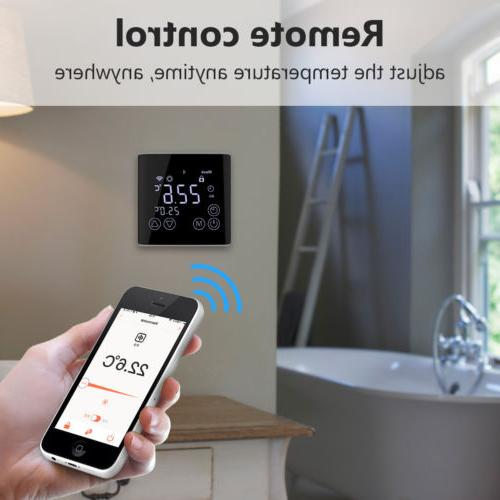 Black Smart Thermostat Home Touch