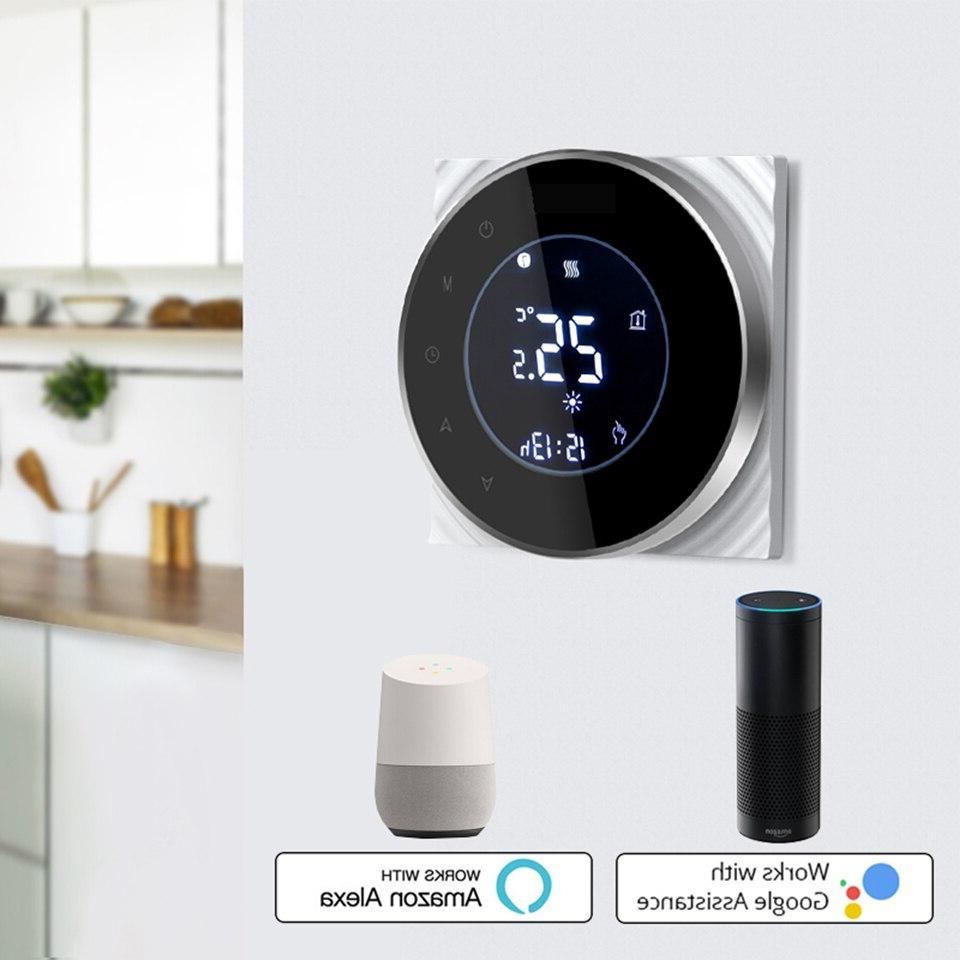 Smart <font><b>Thermostat</b></font> Temperature Wireless Controller Water/Electric Floor Boiler Google <font><b>Home</b></font>