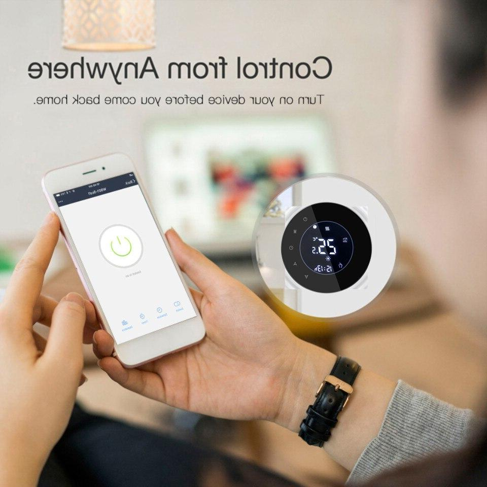 Smart WiFi Touch Temperature Wireless Controller <font><b>For</b></font> Water/Electric Boiler Works <font><b>Home</b></font>
