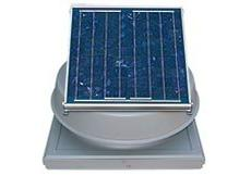 Solar Attic Fan Roof Mount - Curb Mount - 24 watt + Free The