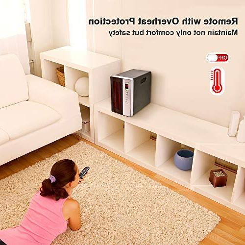 Space Heater 1500W Heating Device Temperature Off Protection, for Home
