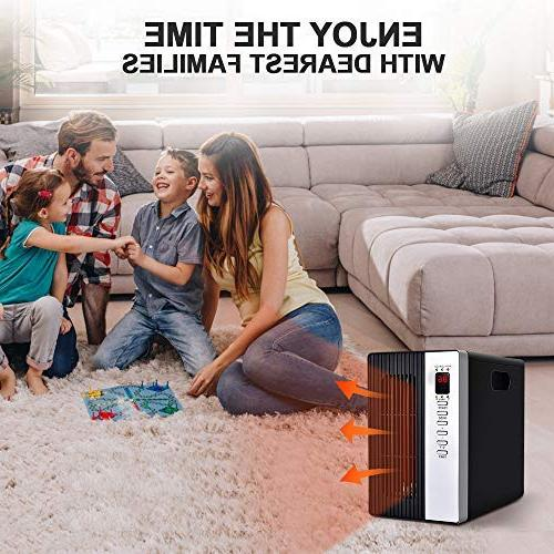 Space 1500W Electric Heating with Temperature Off Protection, Saving, Timer for