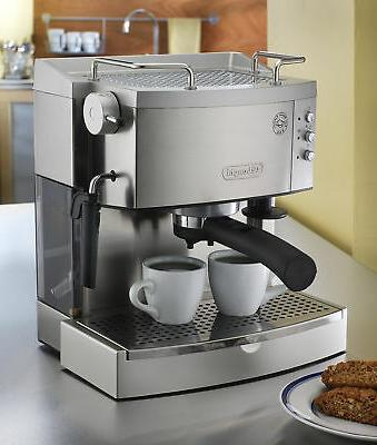 Stainless Steel Espresso Maker Commercial DeLonghi Home Elec