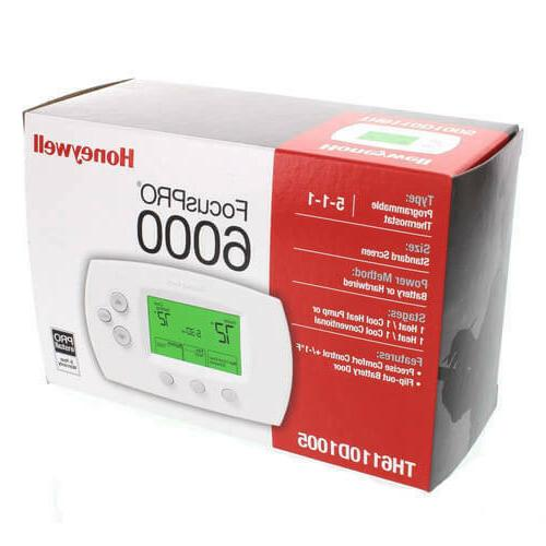 TH6110D1005 Honeywell 6000 Programmable White.