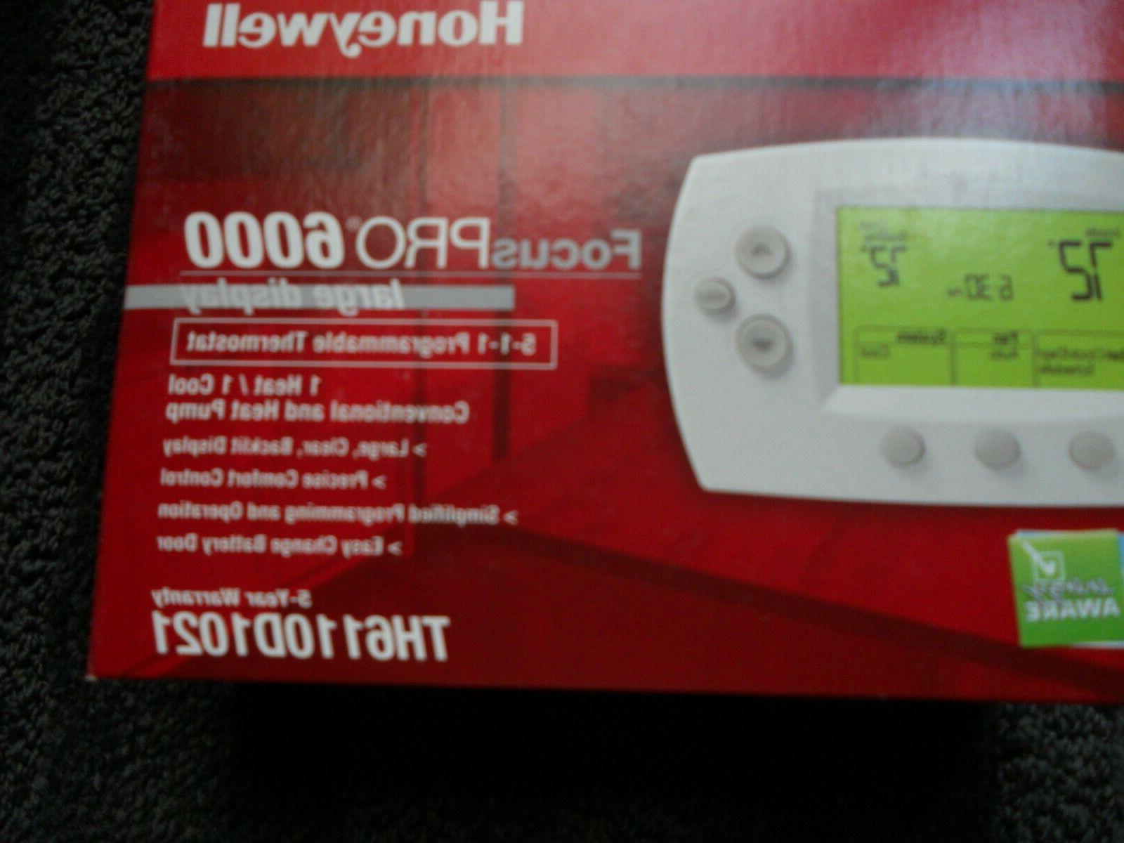 th6110d1021 focuspro programmable digital thermostat new in