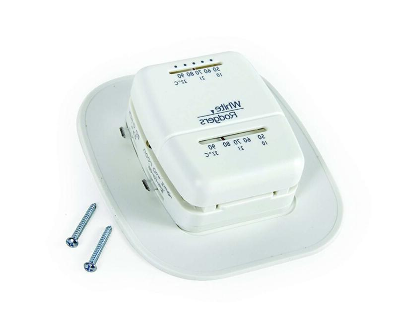 thermostat heat cooling mobile home rv white