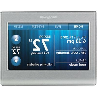 wi fi 9000 touchscreen thermostat silver