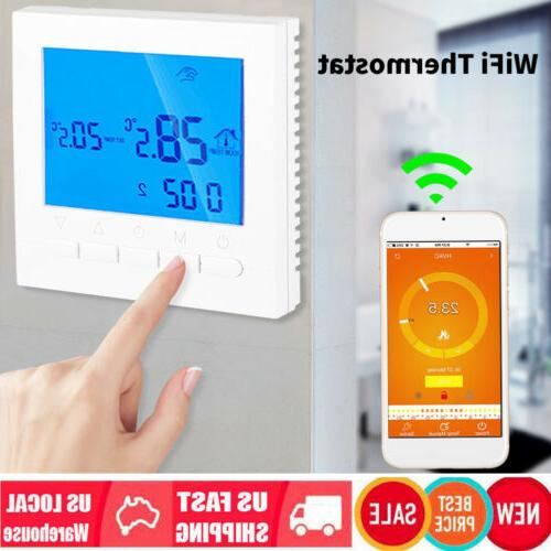 wi fi programmable heating thermostat home wireless