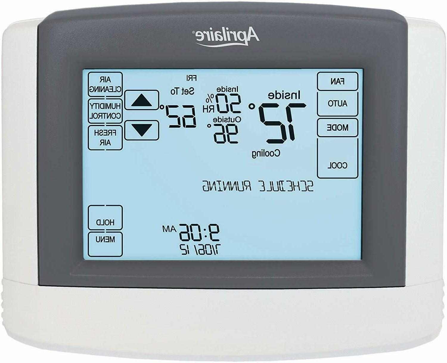 Aprilaire Wi-Fi Touchscreen Thermostat with Integrated IAQ S