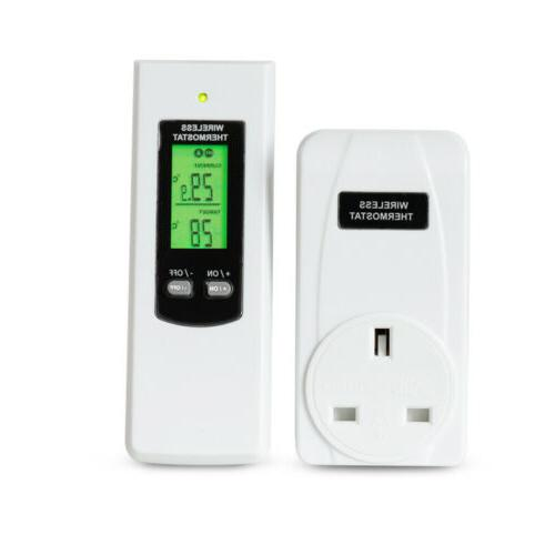 Wireless Thermostat Outlet Remote Control Temperature