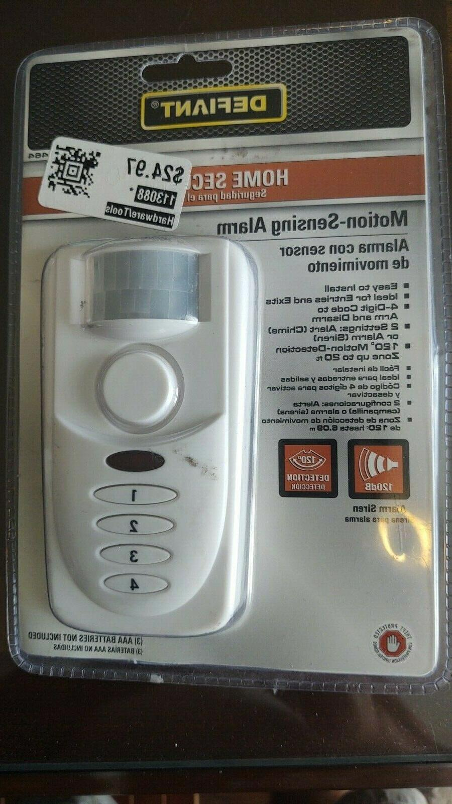 wireless home security motion sensing alarm