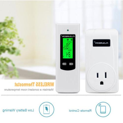 Wireless RF Thermostat Plug In Home Temperature Heating Cool