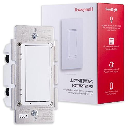 Honeywell Z-Wave Smart Switch, Paddle, Interchangeable & Almond & Range | ZWave Hub Required SmartThings, Wink, Alexa Compatible,
