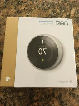 Nest Learning Thermostat 3rd Generation Stainless Steel Goog