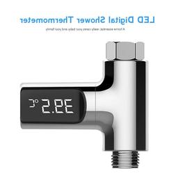 LED Display Shower Faucets Water Thermometer Electricity Wat
