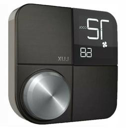 Lux Kono Smart Wi-Fi Thermostat Interchangeable Black Stainl