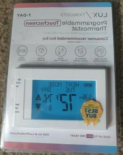 LUX TX9600TS 7-Day Programmable Touch Screen Thermostat Bran