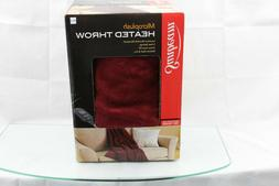 Sunbeam Microplush Heated Electric Throw Blanket with Contro