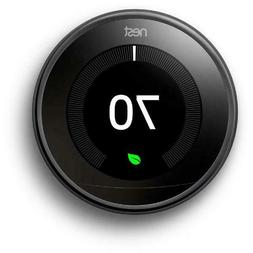 Google Nest Learning Thermostat - 3rd Generation - Mirror Bl