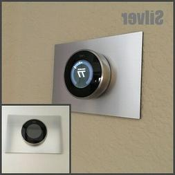 Nest Thermostat Wall Plate- 5 x 7 Rectangle - Silver