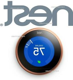 NEW NEST LEARNING THERMOSTAT COPPER WORKS WITH GOOGLE HOME A