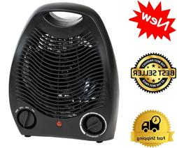 portable black space heater compact home office