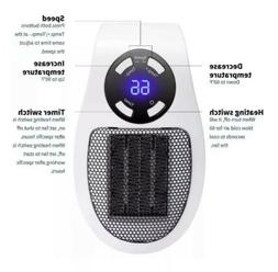 Portable Heater Timer Electric Fan  Handy Fast Heat For Home