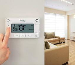 programmable home thermostat large easy to read