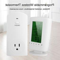 Programmable Wireless Thermostat Socket Home Temperature Rem