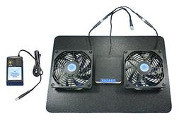 Receiver/Amp Megabase cooling fans / Adjustable Thermostat &