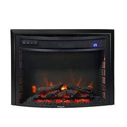 "Ever Light RV Fireplace 26"" Electric RV Fireplace Curved Gla"