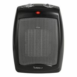 Small Portable Space Heater Fan Black Lightweight Adjustable