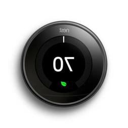 smart learning thermostat 3rd generation mirror black
