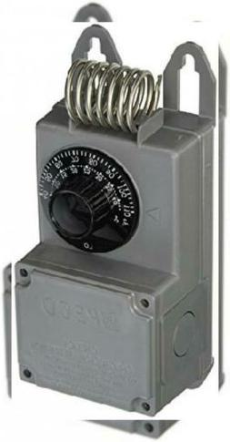 Peco TF115-001 NEMA 4X Line Voltage Thermostat, Gray