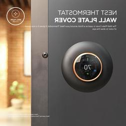 Wall Plate Cover for Nest Learning Thermostat Matte Black 1S