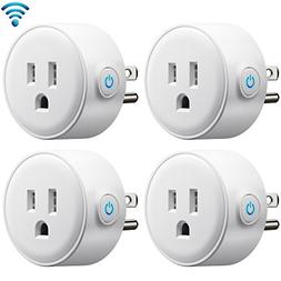 PECHAM 2 Pack WiFi Smart Plug Mini Plug, Remote Control Your